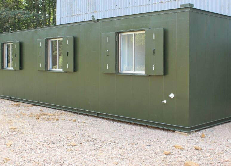 Typical new 32ft anti vandal portable cabin for sale