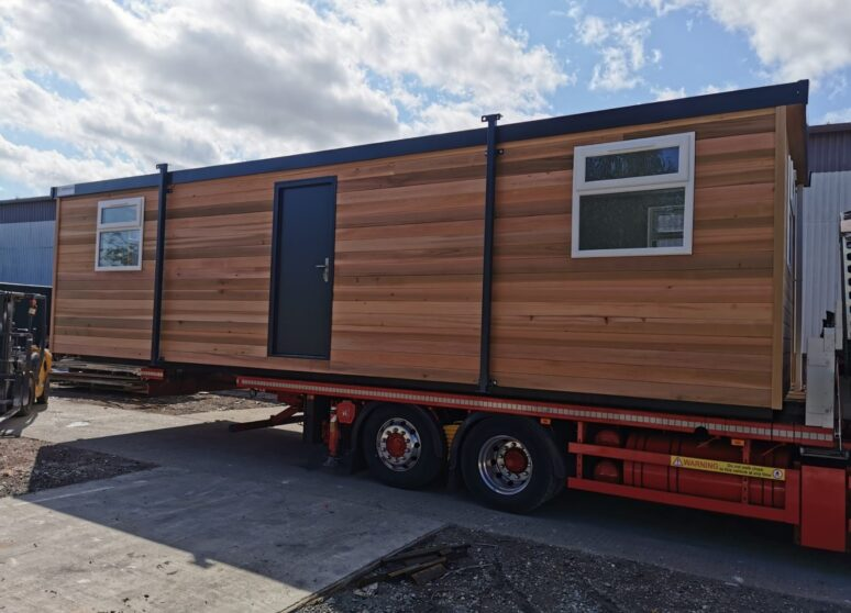 Timber Clad portable cabin