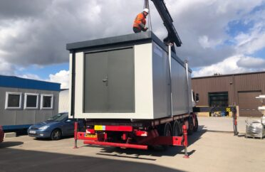 Portable Cabin Store on lorry